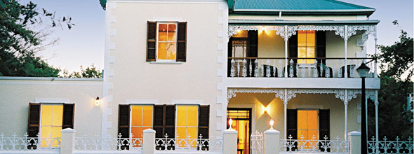Guest House on the wine route from Cape Town