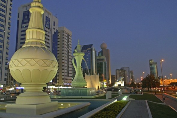 Abu Dhabi street scene