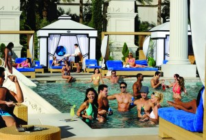 Summer in las vegas the cromwell the pools for Caesars swimming pool