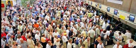 Image result for crowded airports