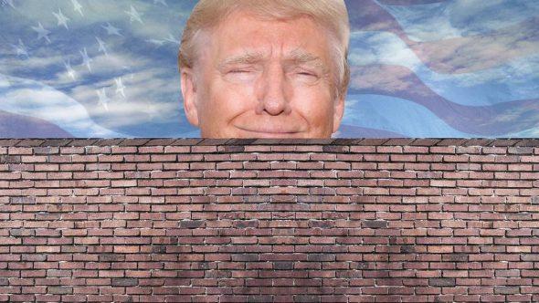 Trump and wall